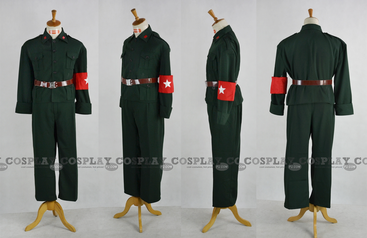 Hetalia: Axis Powers China Disfraz (China,Uniform Green)