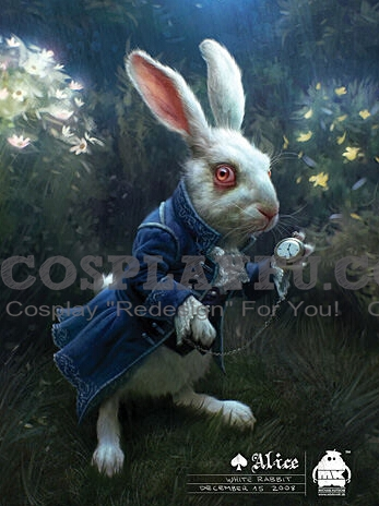 White Rabbit Cosplay Costume from Alice in Wonderland (2010 film)
