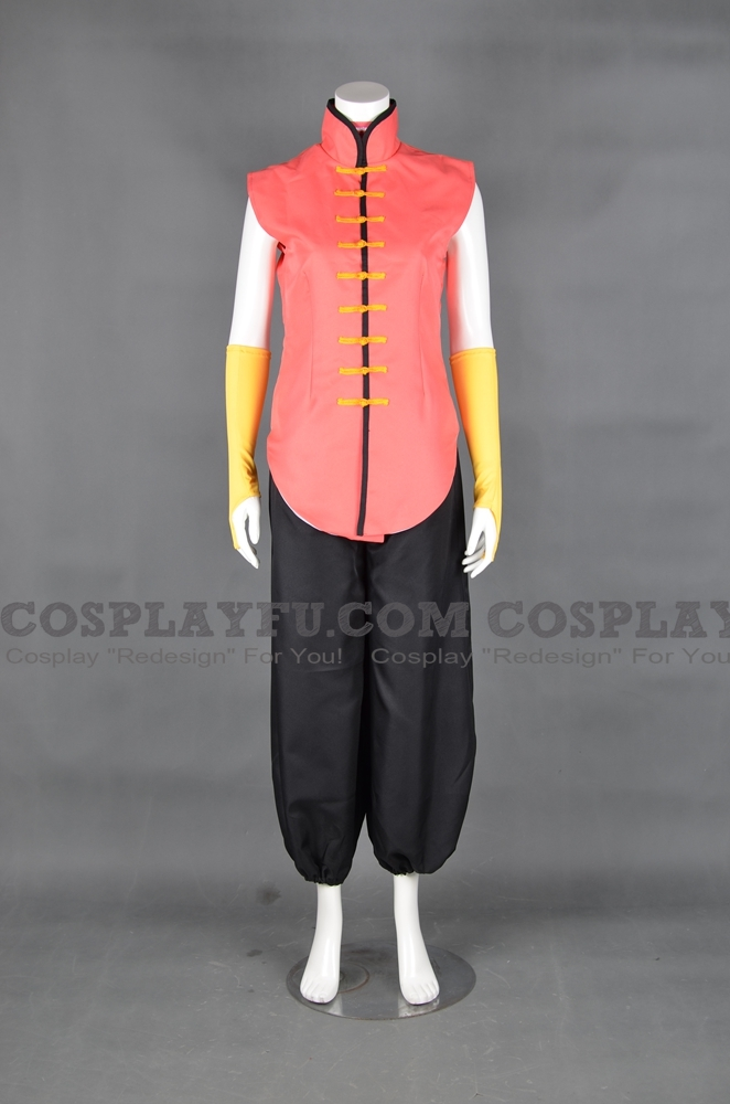 Yun Cosplay Costume (Red) from Street Fighter