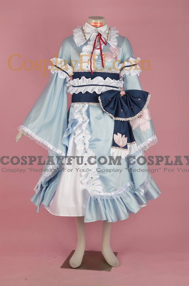 Yuyuko Cosplay Costume (3rd) from Touhou Project