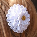 Saber White Chrysanthemum Hair Clip from Fate Stay Night