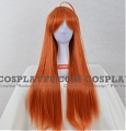 80 cm Long Straight Orange Wig (1667)