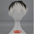 Short Mixed White and Black Wig (3904)
