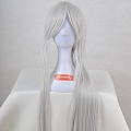 Long Straight Pony Tail White Wig (3128)