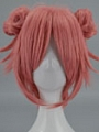 35 cm Short Buns Pink Wig (8331)