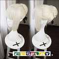 Short Straight Bun Blonde Wig (7598)