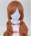 Long Wavy Twin Pony Tails Brown Wig (7826)