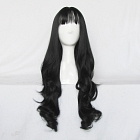 Long Curly Black Wig (8557)