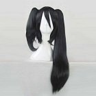 Long Straight Black Twin Tail Wig (8828)
