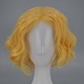 30 cm kurz Curly Blond Perücke (8223)