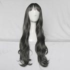 70 cm Long Wavy Black Wig (8737)