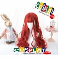 60 cm Long Curly Red Wig