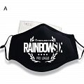 Rainbow 6 Face Mask for Adults (Cotton, Washable, Reusable) (78978)