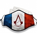 Assassin's Creed Face Mask for Adults (Cotton, Washable, Reusable) with Pocket with Nose Wire