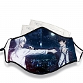 Psycho-Pass Face Mask for Adults (Cotton, Washable, Reusable) with Pocket with Nose Wire