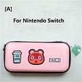 Animal Crossing Tom Nook Pink Color Nintendo Switch and Switch Lite Carrying Case - 8 Game Cards Holding