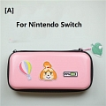 Animal Crossing Isabelle Pink Color Nintendo Switch and Switch Lite Carrying Case - 8 Game Cards Holding