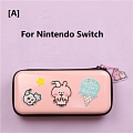 ピンク Kanahei Nintendo Switch と Switch Lite Carrying Case 8~10 ゲーム Cards Holding コスプレ