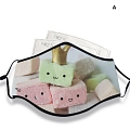 Marshmallow Face Mask for Adults (Cotton, Washable, Reusable) with Pocket with Nose Wire