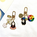 Cute Spirited Away Нет Face Keychain | Silicone Case for Apple AirPods 1, 2, Pro Косплей