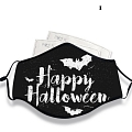 Halloween Face Mask for Adults (Cotton, Washable, Reusable) with Pocket with Nose Wire (80893)