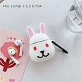 Cute Red Eyes Rabbit | Silicone Case for Apple AirPods 1, 2, Pro