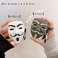 V for Vendetta Mask | Silicone Case for Apple AirPods 1, 2, Pro