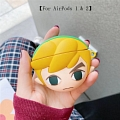 Cute Link from the Legend of Zelda | Silicone Case for Apple AirPods 1, 2