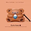 Lovely Ice Cream Bear l | Silicone Case for Apple AirPods 1, 2, Pro