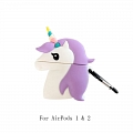 Lovely Purple Unicorn | Silicone Case for Apple AirPods 1, 2, Pro
