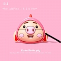 Cute Little Pig | Airpod Case | Silicone Case for Apple AirPods 1, 2, Pro