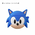 Lovely Sonic the Hedgehog | Airpod Case | Silicone Case for Apple AirPods 1, 2, Pro (81392)