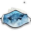 Game of Thrones Face Mask for Adults (Cotton, Washable, Reusable) with Pocket with Nose Wire