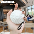 Lovely Steamed Buns | Airpod Case | Silicone Case for Apple AirPods 1, 2, Pro Cosplay (81505)