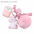 Lovely Pink Unicorn | Airpod Case | Silicone Case for Apple AirPods 1, 2, Pro (81530)