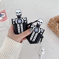 Horror Skull in Sword Airpod Case | Silicone Case for Apple AirPods 1, 2
