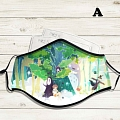 Reusable Washable Adjustable Adult Kids Face Mask • Ghibli • Cotton • Lovely Animal with Filter Pocket Nose Wire