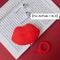 Lovely Rosso Lip | Airpod Case | Silicone Case for Apple AirPods 1, 2, Pro Cosplay (81619)