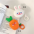 Lovely Bunny and Carrot | Airpod Case | Silicone Case for Apple AirPods 1, 2, Pro (81756)