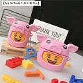 Lovely LEGO Piggy | Airpod Case | Silicone Case for Apple AirPods 1, 2, Pro Cosplay (81773)