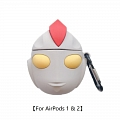 Lovely Ultraman | Airpod Case | Silicone Case for Apple AirPods 1, 2, Pro Cosplay (81796)