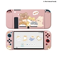 Pink Animal Dogs Family Peach Space Switch Shell Protection Cover