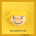 Lovely Happy Sad Emoji Charlie Snoopy Airpod Case | Silicone Case for Apple AirPods 1, 2 only