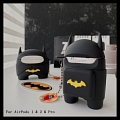 Lovely Batman Among Us Airpod Case | Silicone Case for Apple AirPods 1, 2 and Pro