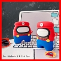 Lovely Super Mario Among Us Airpod Case | Silicone Case for Apple AirPods 1, 2 과 Pro 코스프레