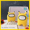 Lovely Pikachu Among Us Airpod Case | Silicone Case for Apple AirPods 1, 2 と Pro コスプレ