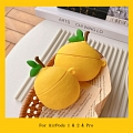 Lovely Yellow Lemon Fruit Airpod Case | Silicone Case for Apple AirPods 1, 2 and Pro