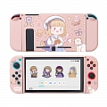 Pink School Girl Switch Shell Protection Cover (83950)