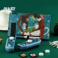 Cute Blue Alice Wonderland Nintendo Switch Protection Cover - TPU