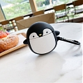Cute Schwarz Weiß Penguin Airpods Case | Silicone Case for Apple AirPods 1 und 2 only Cosplay